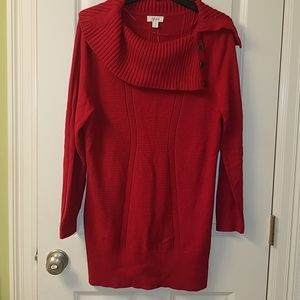 NWT Red Tunic Sweater